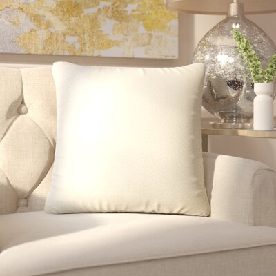 Chevaliers Solid Throw Pillow Color: Sand