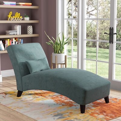 Jules Chaise Lounge Upholstery: Turquiose
