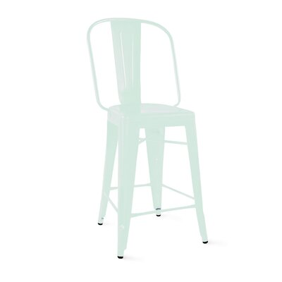 Despres Steel Counter 24 Bar Stool Color: Matte Mint