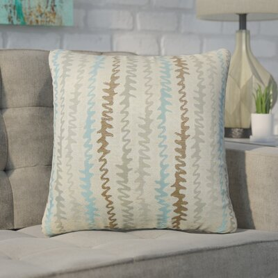 Dozier Zigzag Throw Pillow Color: Placid