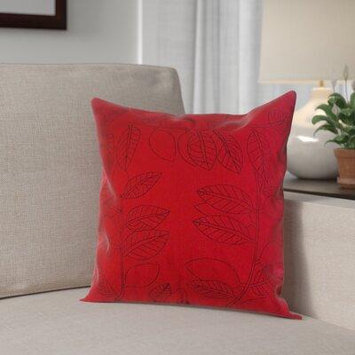 Bordoni-Cowley Square Decorative 100% Cotton Pillow Cover Color: Red