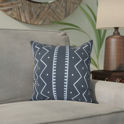 Arlo Polyester Throw Pillow Size: 26 H x 26 W, Color: Navy Blue