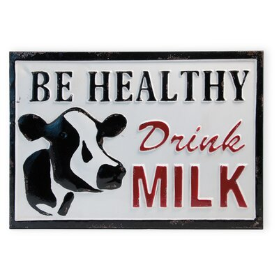 Be Healthy Drink Milk Sign
