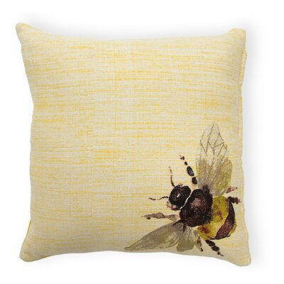 Ikin Honeybee Cotton Throw Pillow