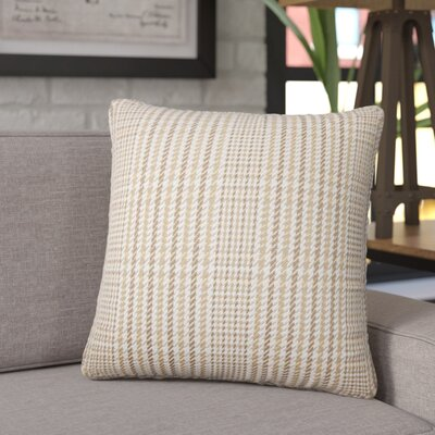 Songy Plaid Cotton Throw Pillow Color: Driftwood