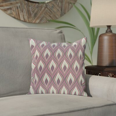 Menara Geometric Throw Pillow Size: 16 H x 16 W, Color: Purple / Purple