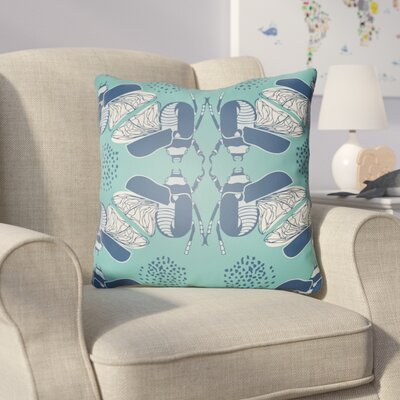 Colindale Square Throw Pillow Size: 18 H x 18 W x 4 D, Color: Turquoise