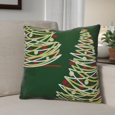 Christmas Tree Outdoor Throw Pillow Size: 20 H x 20 W, Color: Green