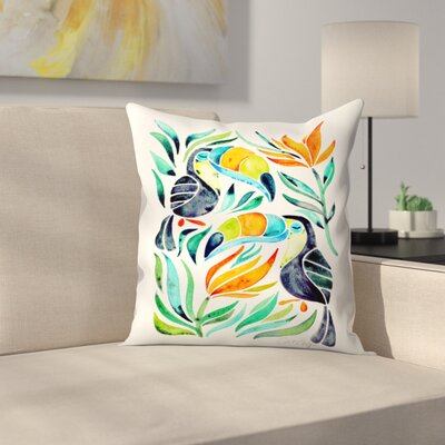 Toucans Throw Pillow Size: 20 x 20