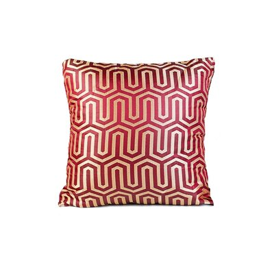 Honey Comb Throw Pillow Color: Burgundy
