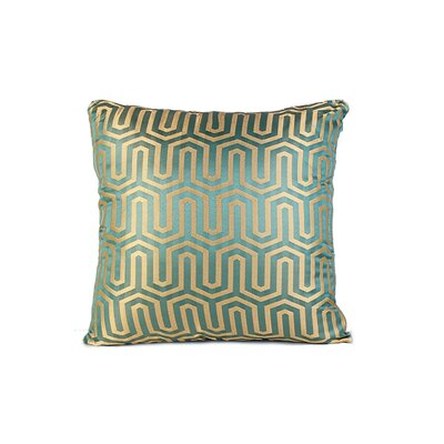 Honey Comb Throw Pillow Color: Green