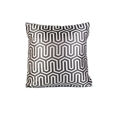 Honey Comb Throw Pillow Color: Silver