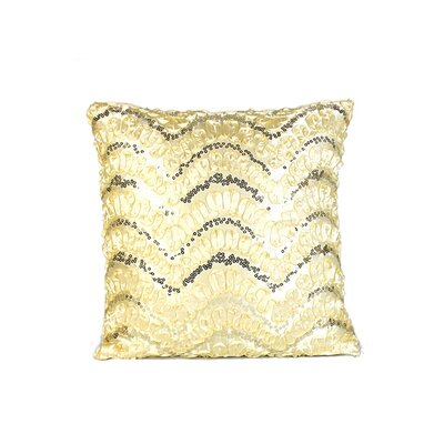 Wave Sequins Throw Pillow Color: Gold