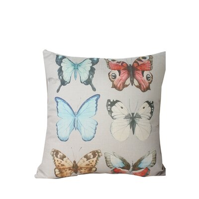 Newbold Butterfly Print Throw Pillow