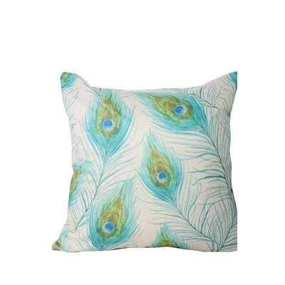 Morningside Drive Peacock Print Throw Pillow