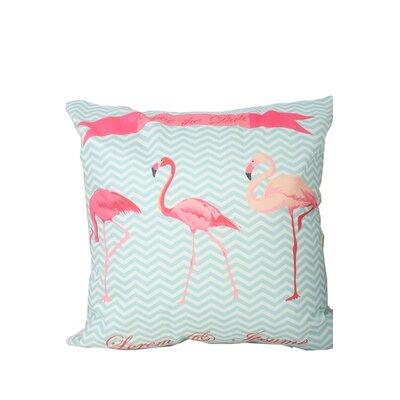 Hardeman Flamingo Print Throw Pillow