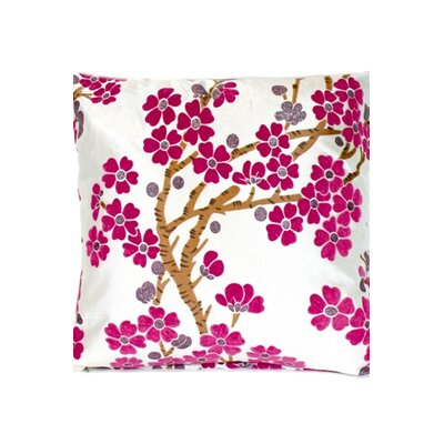 Little Flowers Throw Pillow Color: Pink