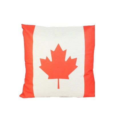 Canadian Flag Print Throw Pillow
