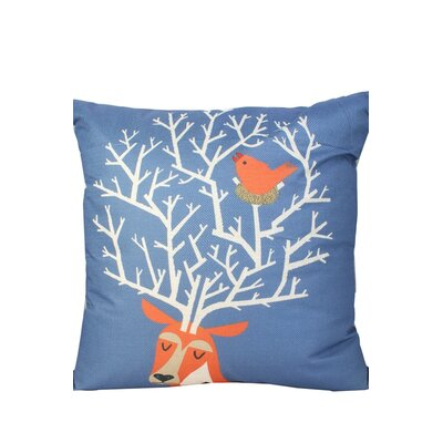 Newburn Print Throw Pillow Color: Navy Blue/Orange