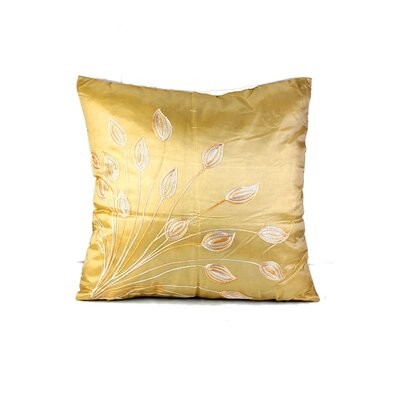 Morningside Leaf Throw Pillow Color: Cream