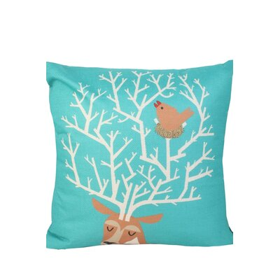 Newburn Print Throw Pillow Color: Turquoise/Orange