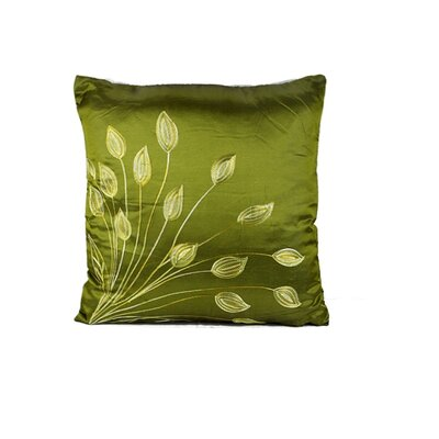 Morningside Leaf Throw Pillow Color: Green