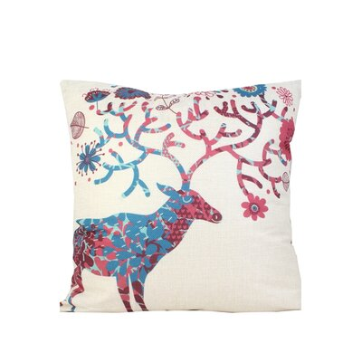 Newburn Deer Print Throw Pillow