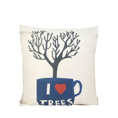 Tree Print Throw Pillow
