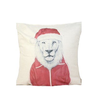 Lion Print Throw Pillow