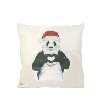 Panda Print Throw Pillow