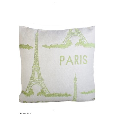 Edgware Paris Eiffel Print Throw Pillow