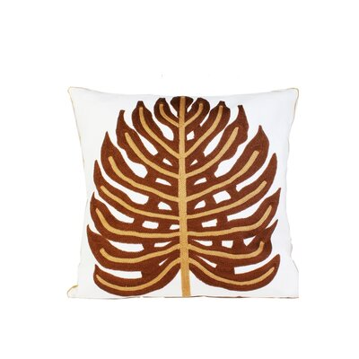 Ashbourne Embroidery Throw Pillow Color: Brown