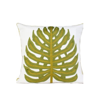 Ashbourne Embroidery Throw Pillow Color: Green