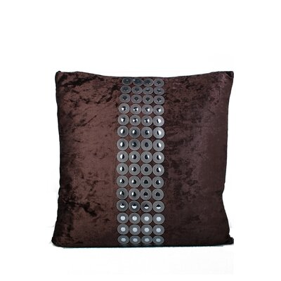 Velvet and Buttons Throw Pillow Color: Brown