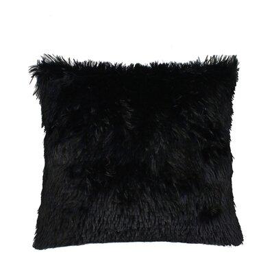 Premium Plush Throw Pillow Color: Black, Size: 17 x 17
