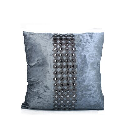 Velvet and Buttons Throw Pillow Color: Gray