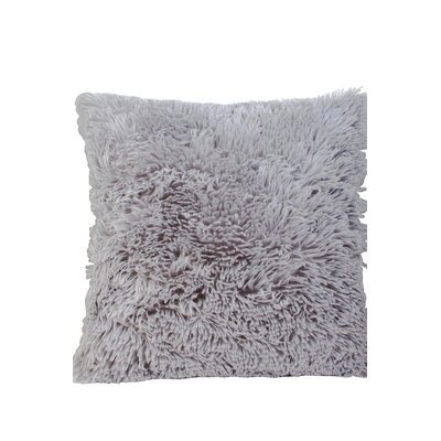 Premium Plush Throw Pillow Color: Gray, Size: 17 x 17