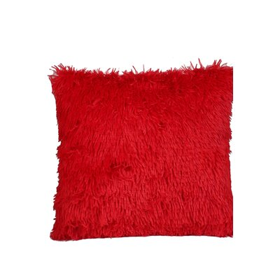 Premium Plush Throw Pillow Color: Red, Size: 17 x 17