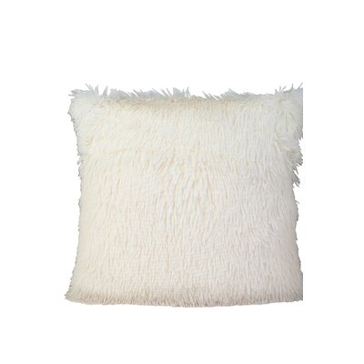 Premium Plush Throw Pillow Color: White, Size: 17 x 17