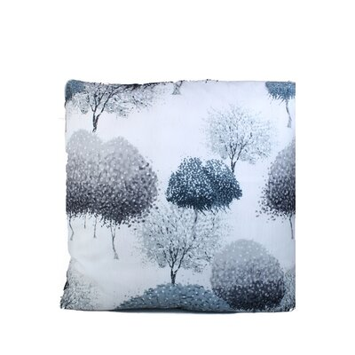 Inky Trees Print Throw Pillow Color: Gray