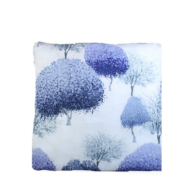 Inky Trees Print Throw Pillow Color: Light Purple