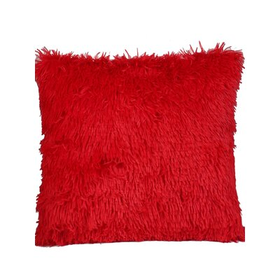 Premium Plush Throw Pillow Color: Red, Size: 20 x 20