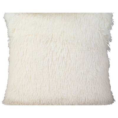 Premium Plush Throw Pillow Color: White, Size: 20 x 20