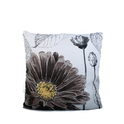 Edicott Daisy Print Throw Pillow