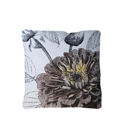 Edicott Blossom Print Throw Pillow Color: Brown