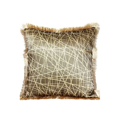 Fringe Throw Pillow Color: Gold