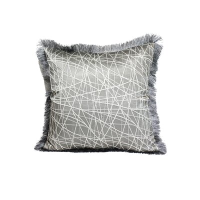 Fringe Throw Pillow Color: Silver