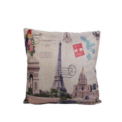 Edgware Eiffel Print Throw Pillow