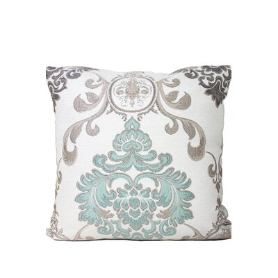 Wallpaper Throw Pillow Color: Gray/Blue