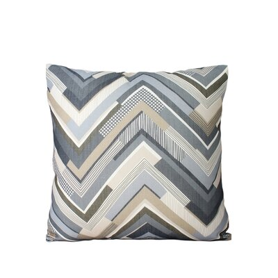 Chevron Throw Pillow Color: Gray/Beige
